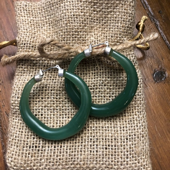 Jewelry - Hoop earrings (green)